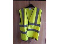 High vis visibility vest size m medium