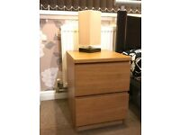 Two Bedside Tables - Drawers
