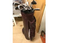 Set of 12 Houston golf clubs complete with bag