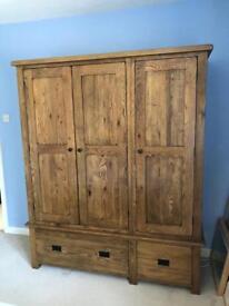 Chunky wooden triple wardrobe