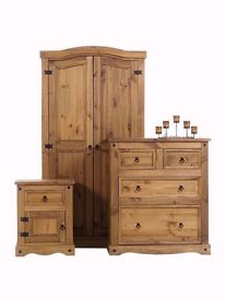 Corona Pine Bedroom Furniture Set **Home Delivery Available**