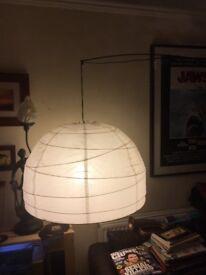 Ikea Regolit floor lamp with paper shade