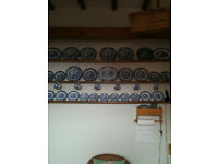 Blue and white china (37 pieces)