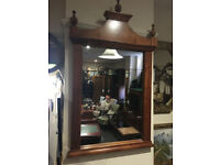 Gorgeous Large French Empire Style Ornately Carved Cherry-wood Over-mantle Mirror