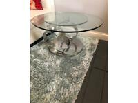 Stunning Glass Coffee & Lamp Table