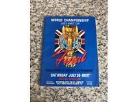 Genuine world Cup 1966 programme England v West Germany