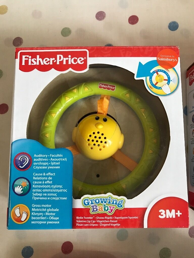 Fisher price baby toys brand new unopenedin Darlington, County DurhamGumtree - Fisher price baby toys brand new unopened 1 x green fisher price birdie tweeter toy 1 x blue fisher price birdie tweeter toy 1 x blue/green fisher price clutch ball Unwanted gifts. All 3 on amazon would cost over £40. £10 for all 3 Feel free to...