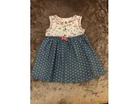 M&co Baby Girl denim summer dress, 6-9 Months