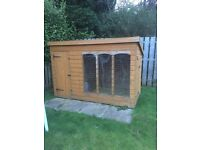 Dog kennel weather damaged, new roof felt Perspex over window. £60ono dismantled by buyer