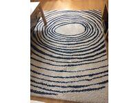 Ikea Eivor Cirkel rug in blue 200x200. Great condition