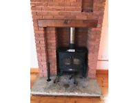 wood burner now ready to go its a 12 kw villager wood burner all in good condition
