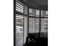 Blinds pure white wood 5cmm
