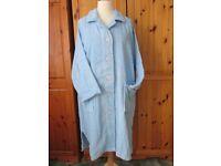 Pretty Secrets Blue Cotton Dressing Gown - size 24/26
