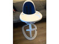 Ickle Bubba Orb Baby Highchair Feeding Chair in Blue on White