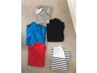 8x size 12/14 tops lovely maternity tops for the summer. Mid sleeve, short sleeve and strapless.