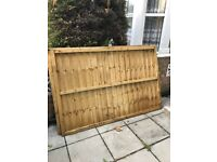 2 x Garden Fence and 1 x Concrete Post
