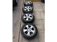 """VW / AUDI / SKODA 15"""" ALLOY WHEELS, EXCELLENT CONDITION, GOODYEAR TYRES + SPARE WHEEL / ACCESSORIES"""