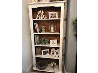 Solid pine farmhouse bookcase