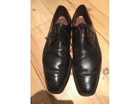 Men's all leather, Black, hand crafted Cheany Liverpool Derby Shoes Size 9