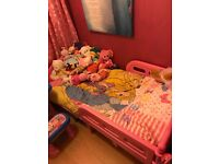 Girls princess Cinderella bed in pink hardly used