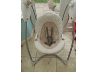 BABY SWINGING MUSICAL SEAT BY GRACO AS NEW