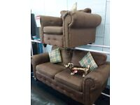 Scs chesterfield sofa chair set