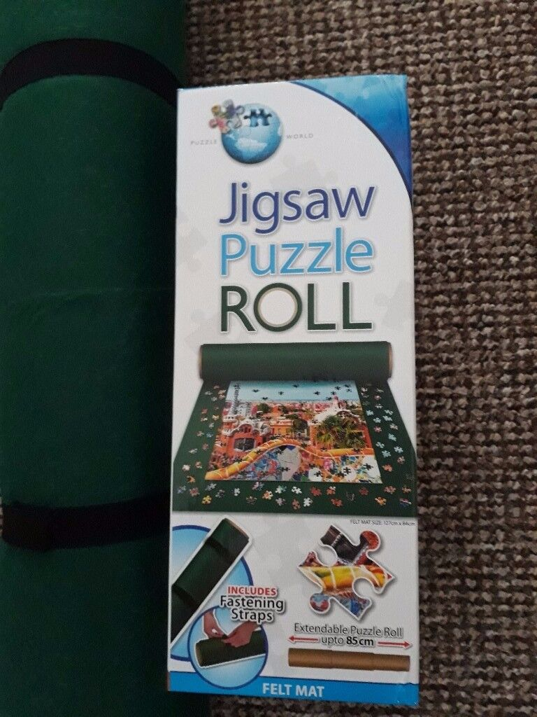 Puzzle Mat, green felt, easily stored nearly new
