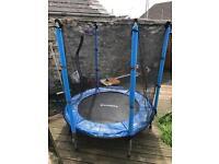 Children's Cosmos Trampoline Black Blue Safety Net 4.5 ft