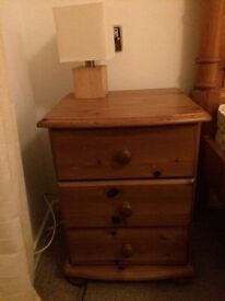 Pair of SOLID Pine Bedside Draws