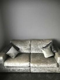 Crushed velvet 2 seater