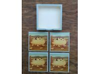 SET 4 COUNTRY 'PIG' COASTERS