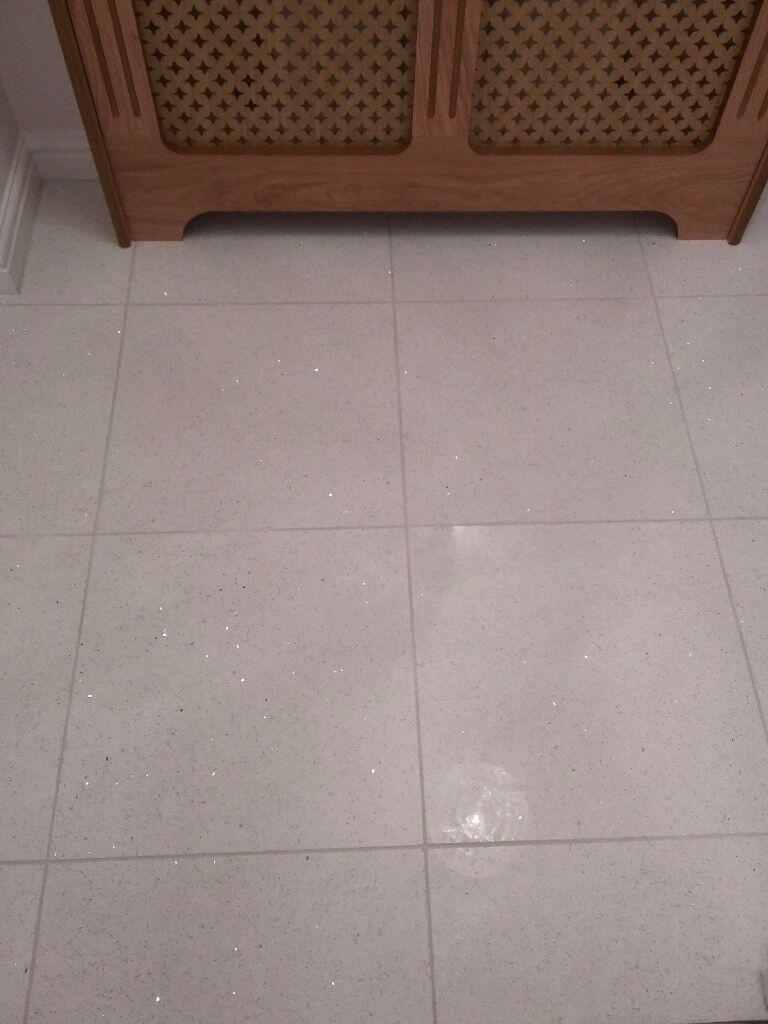 Quartz white mirror chip floor tiles
