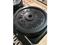 Cast iron weights for sale .