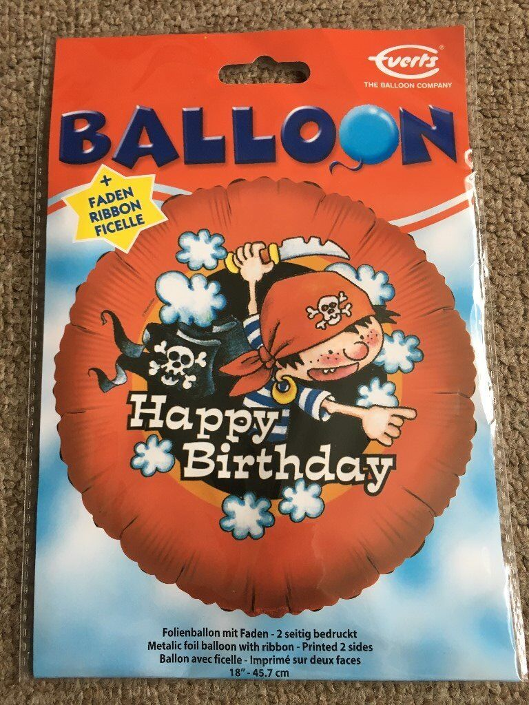 Happy Birthday Childrens Boys Girls Helium Balloon Foil Present Gift Delivery Pirates