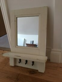 Entry hall mirror with hooks - Pottery Barn