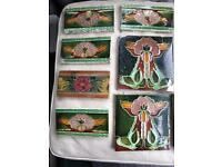 SOLD Selection of Original Victorian tiles x 9