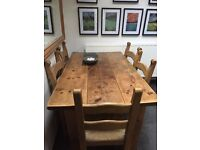 Gorgeous Rustic table and 6 chairs