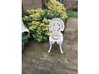 White Iron Garden Chair