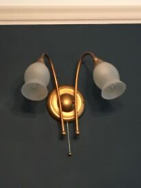 Ceiling light and 3 matching wall lights