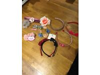 Girls hair accessories hair bands clips some new