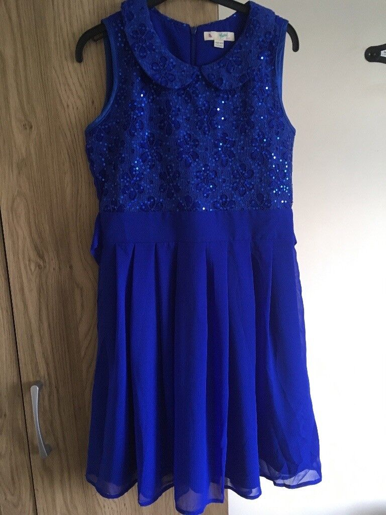 Deep blue dress. Age 11-12.   in Newry, County Down   Gumtree