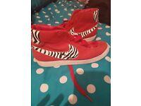 Red Nike Blazers