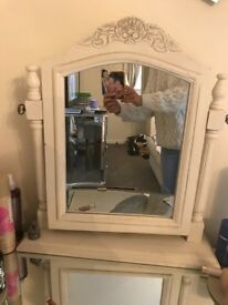 Vintage style shabby chic dressing table mirror