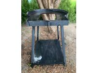 Pizza oven stand - black steel