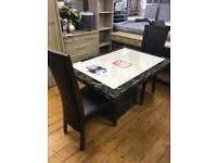 Real marble table & 4 chairs