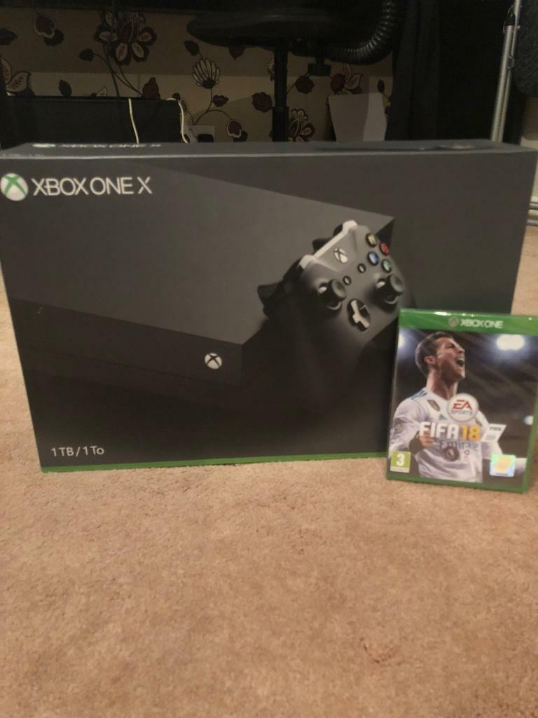 BRAND NEW XBOX ONE X WITH FIFA 18