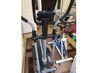 Excercise bike and cross trainer