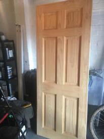 Brand new wooden door