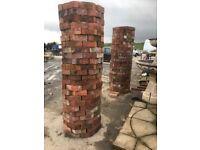 Ornate special brick pillars