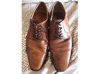 Size 9 brown leather shoes from Aldo